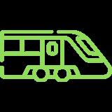 Przystanki SKM oraz KM w odległości 5 min samochodem oraz 10 min autobusem